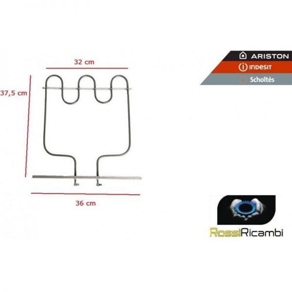 ARISTON INDESIT- RESISTENZA FORNO FONDO INFERIORE BASE 1000 W C00016435
