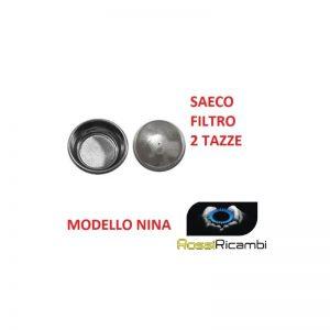 *SAECO* FILTRO CREMA 2 TAZZE 2 DOSI MODELLO NINA - 1 PEZZO