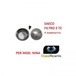 *SAECO* MODELLO NINA FILTRO CREMA 2 TAZZE + ROMPIGETTO EMULSIONATORE -