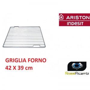 ARISTON INDESIT -GRIGLIA FORNO RIPIANO INOX 42x39 cm -ORIGINALE- C00030161