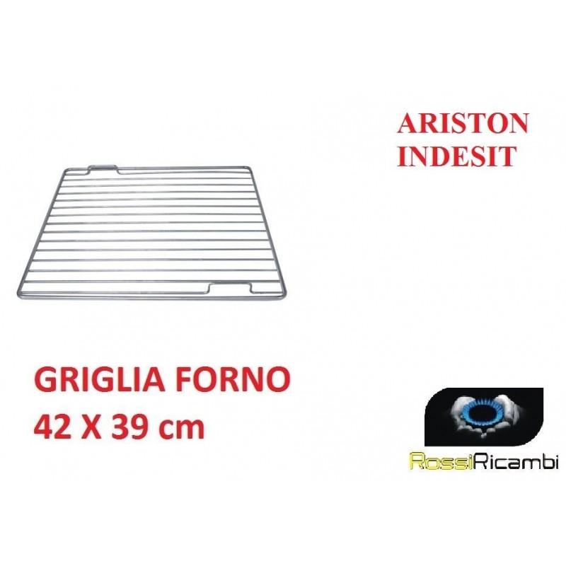 ORIGINALE GRIGLIA FORNO ARISTON INDESIT RIPIANO INOX 42x39 cm C00030161