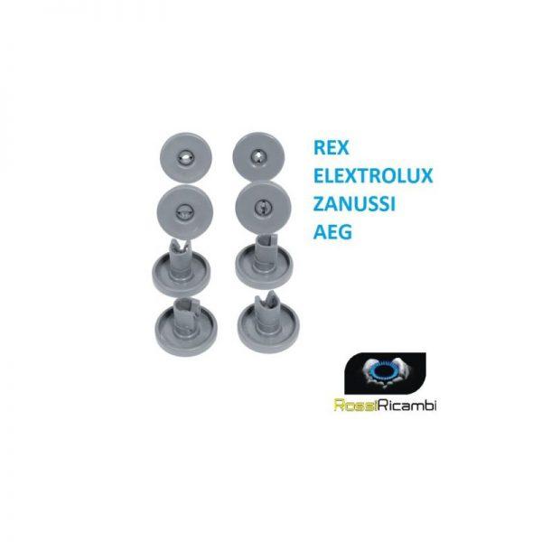 REX ELECTROLUX ZANUSSI AEG -8 RUOTE LAVASTOVIGLIE CESTELLO INFERIORE 50286965004