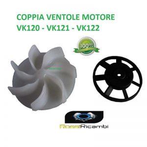 VORWERK FOLLETTO VK120 VK121 VK122 COPPIA VENTOLE PER MOTORE - ALTA QUALITA'