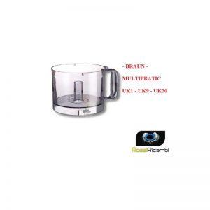 BRAUN - CONTENITORE MULTIPRATIC UK1 -UK9 -UK20 CIOTOLA ROBOT CUCINA BR7001045