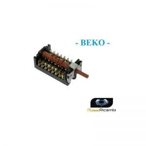 BEKO - COMMUTATORE FORNO POSIZIONI 6 + 0 - ORIGINALE 263900054 Gottak 870701