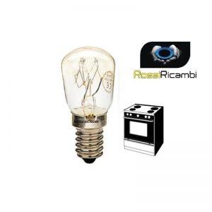 LAMPADINA - LAMPADA PER FORNO ATTACCO PICCOLO E14 MIGNON 25 W 300° A PERA