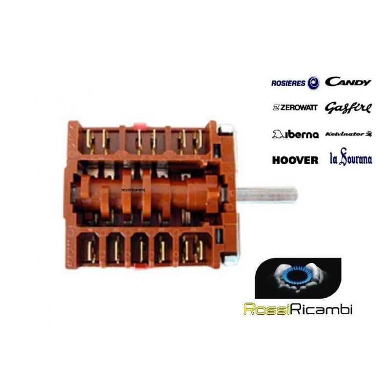 COMMUTATORE FORNO ELETTRICO 5 CONTATTI CANDY-HOOVER **ORIGINALE**