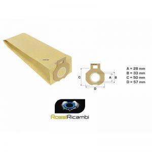 IMETEC - SACCHETTI SCOPA ELETTRICA PIUMA 800W-900W-900W ELECTRONIC-1200W- 10 SACCHETTI