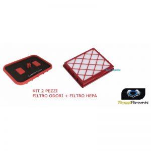 LUX 1 -COPPIA FILTRI - FILTRO HEPA + FILTRO ODORI ASPIRAPOLVERE ELECTROLUX D820