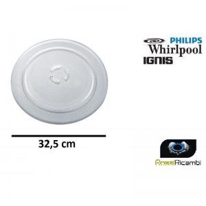 WHIRLPOOL PIATTO FORNO MICROONDE CM 32,5- ORIGINALE - 481941879728