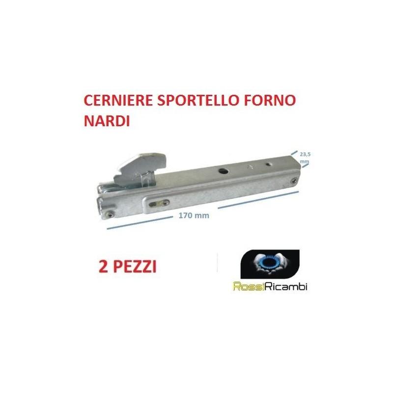 FRANKE 2 PEZZI COPPIA CERNIERE PORTA FORNO 17 X 23,5 CM SPORTELLO MOLLE