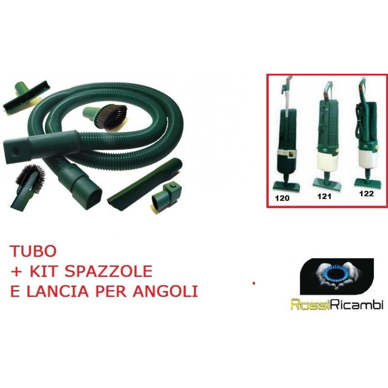compatibile vorwerk folletto vk 120 121 122 tubo flessibile e bocchette