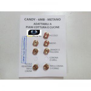 CANDY SERIE UGELLI PIANO COTTURA CUCINE GAS 5 FUOCHI + FORNO- GAS METANO - 6MB