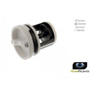 Filtro pompa scarico 41004157 a manopola lavatrice Candy Hoover Iberna Originale
