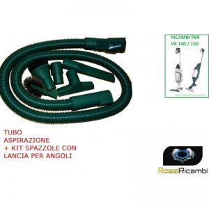 VORWERK FOLLETTO PER 140 - 150 TUBO FLESSIBILE + KIT PENNELLI LANCIA SPAZZOLA