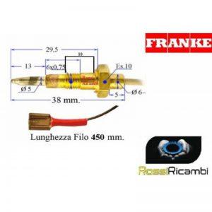 FRANKE - TERMOCOPPIA SICUREZZA GAS CUCINA 1982192 -1981316 FORNELLI - COMPATIBILE