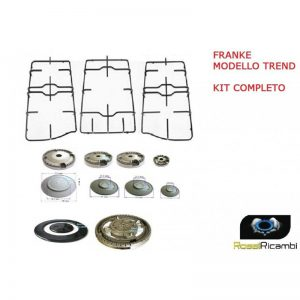 FRANKE - KIT COMPLETO 5 SPARTIFIAMMA + 3 GRIGLIE PER CUCINA TREND PIANO COTTURA