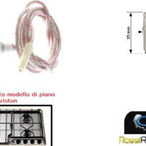 ARISTON INDESIT CANDELETTA ACCENSIONE CUCINA PIANO COTTURA C00087386 35 CM