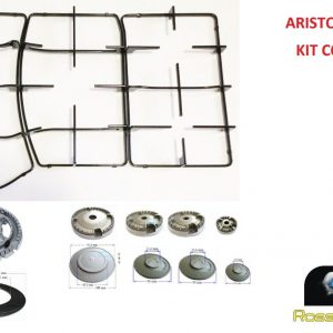 ARISTON INDESIT KIT RINNOVO GRIGLIE + BRUCIATORI SPARTIFIAMMA CUCINA PH750T