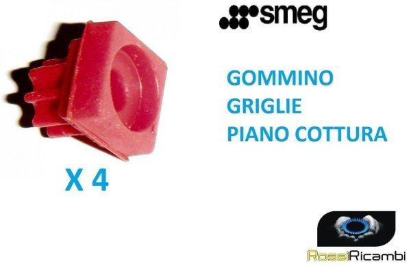 SMEG 4 GOMMINI GRIGLIA PIANO COTTURA -ORIGINALE- 764010175 GOMMINO PVA PVB
