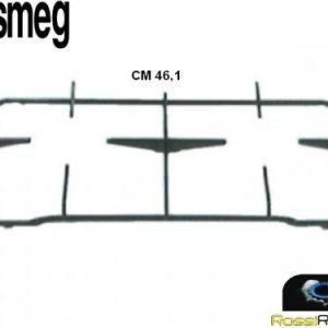SMEG WHITE WESTINGHOUSE GRIGLIA CUCINA NERA 2 FUOCHI CM 46,1 X 22,5