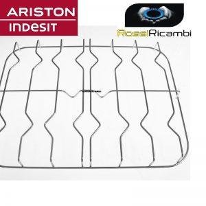 ARISTON INDESIT GRIGLIA CUCINA 4 FUOCHI IN ACCIAIO 56,5 X 42,5 CM