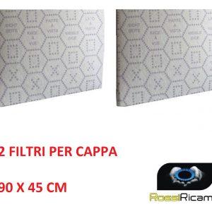 FILTRO PER CAPPA ANTIGRASSO PANNO CON INDICATORE DI SATURAZIONE 90x45 cm - 2 PZ