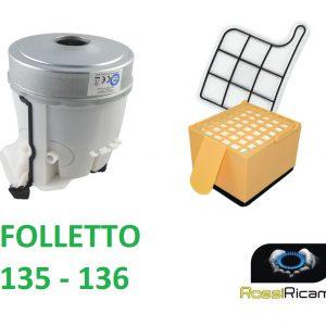 MOTORE + FILTRI FOLLETTO VK135 VK136 VORWERK 900 WATT COMPATIBILE FILTRO HEPA