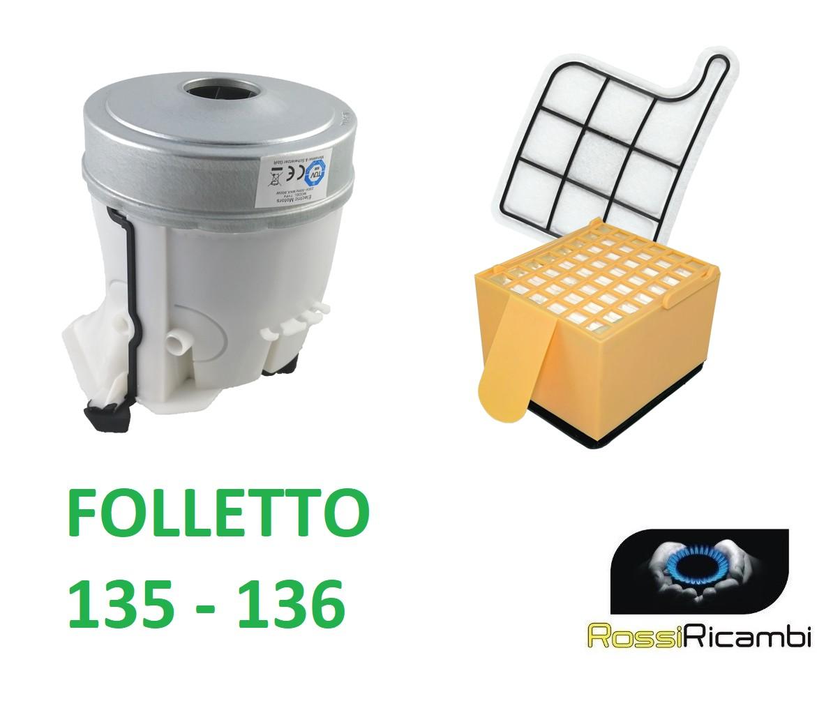 folletto 135 compatibile 1 filtro griglia 1 filtro hepa