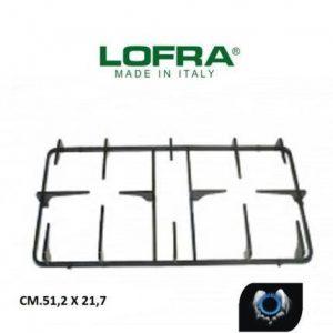LOFRA GRIGLIA 2 FUOCHI CUCINA GAS PIANI COTTURA CM.51,2 X 21,5 - ORIGINALE 3060115