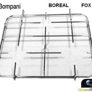 BOMPANI BOREAL GRIGLIA CUCINA 3 FUOCHI ACCIAIO CM 42 X 35