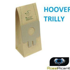 8 SACCHETTI SCOPA ELETTRICA HOOVER TRILLY - ST 104 1000W - ST 125 1200 W