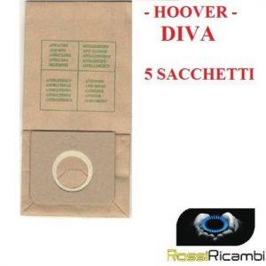 HOOVER - SACCHETTI SCOPA ELETTRICA DIVA TUTTI I MODELLI - 5 SACCHETTI