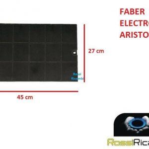 FILTRO CAPPA FABER ARISTON ELECTROLUX CON CARBONI ATTIVI 6093046 PER ISOLA PRISMA EGYZIA