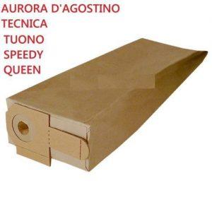 AURORA D'AGOSTINO 8 SACCHETTI ASPIRAPOLVERE TECNICA SPEEDY TUONO ELETTRO QUEEN
