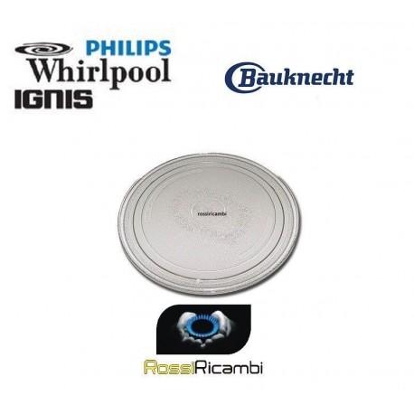 PIATTO microonde WHIRPOOL diametro 28,0cm ORIGINALE 481246678407